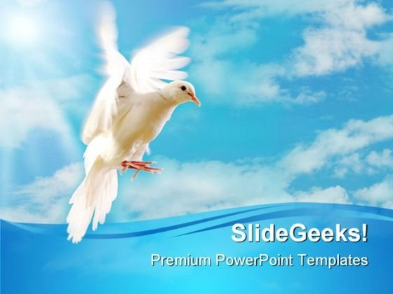 White Dove Nature PowerPoint Themes And PowerPoint Slides 0411
