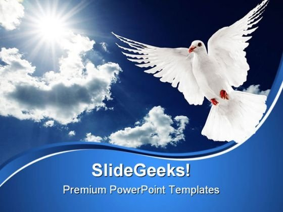 White Dove Religion PowerPoint Themes And PowerPoint Slides 0611