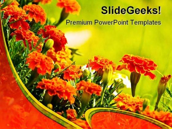 Wild Flowers Beauty PowerPoint Template 0610