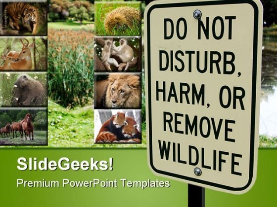 Wild Life Sign Animals PowerPoint Themes And PowerPoint Slides 0611