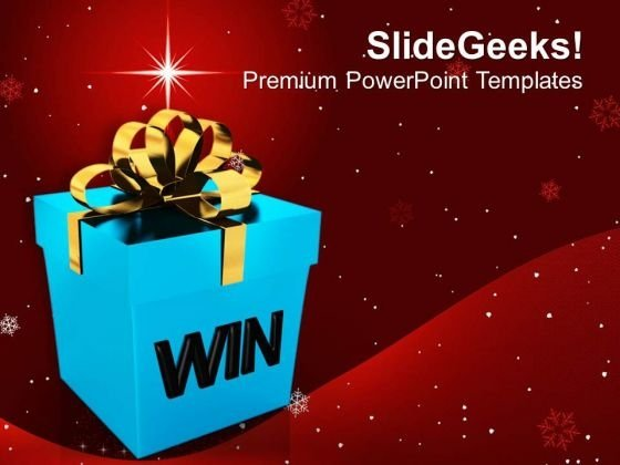 Win A Prize For Efforts In Business PowerPoint Templates Ppt Backgrounds For Slides 0413