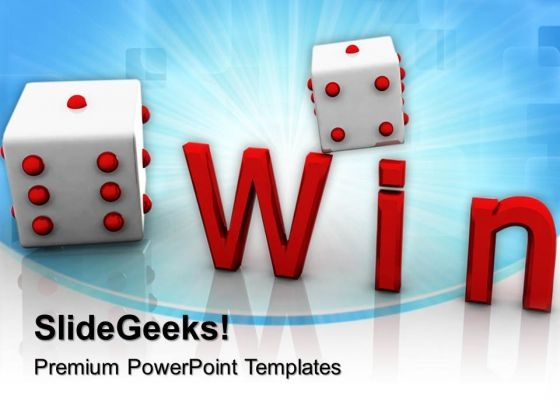 Win Cube Game Competition PowerPoint Templates And PowerPoint Themes 0712