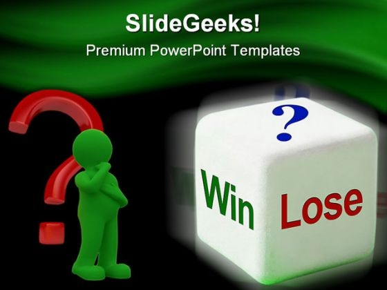 Win Or Lose Business PowerPoint Template 0910