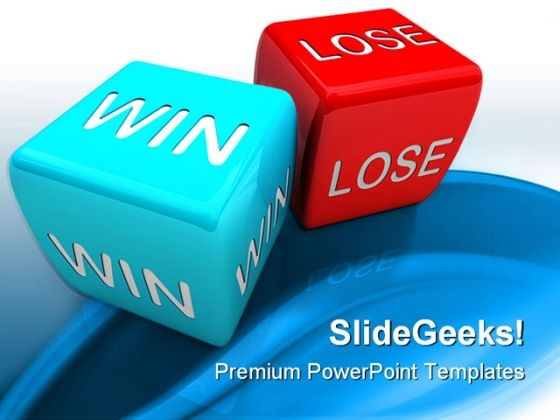Win Or Lose Business PowerPoint Templates And PowerPoint Backgrounds 0211