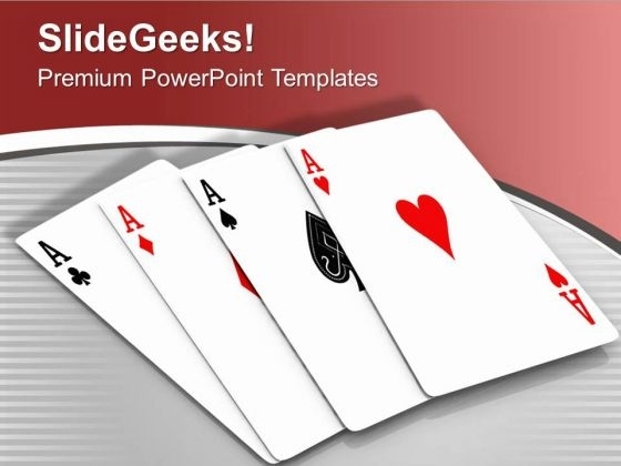 Win The Game Of Cards PowerPoint Templates Ppt Backgrounds For Slides 0513