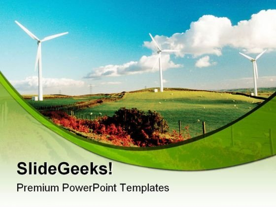 Wind Farm Nature PowerPoint Templates And PowerPoint Backgrounds 0211