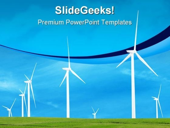 Wind Turbines Nature PowerPoint Templates And PowerPoint Backgrounds 0211