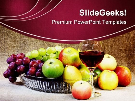 Wine Fruits Holidays PowerPoint Themes And PowerPoint Slides 0211