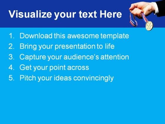 winner_holding_prize_business_powerpoint_themes_and_powerpoint_slides_0411_text