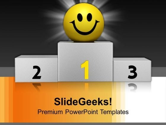 Winner Smiley Leadership PowerPoint Templates And PowerPoint Themes 1112