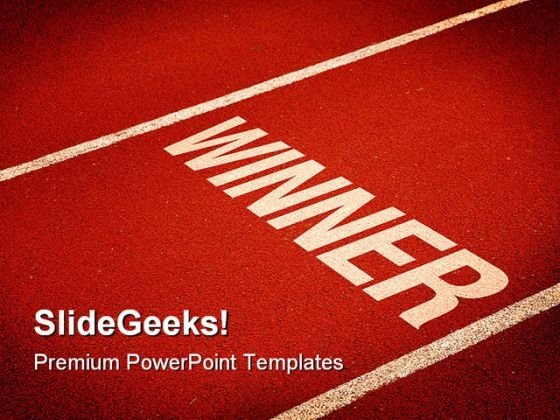 Winner Success PowerPoint Themes And PowerPoint Slides 0811