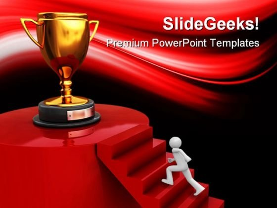 Winner Trophy Competition PowerPoint Templates And PowerPoint Backgrounds 0311