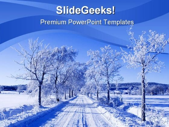 Winter Scene Nature Powerpoint Template 0610 - Powerpoint Themes
