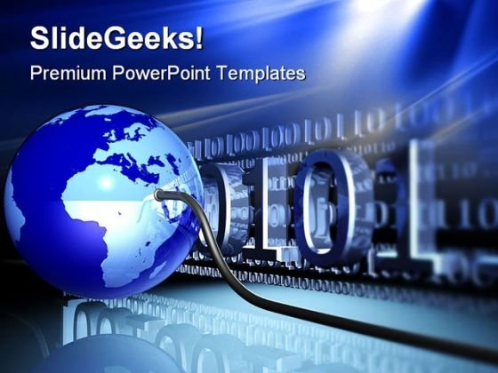 Wired Globe Technology PowerPoint Templates And PowerPoint Backgrounds 0311