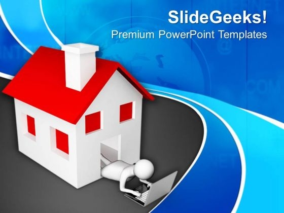 Wireless Communication Can Be Used At Home PowerPoint Templates Ppt Backgrounds For Slides 0713