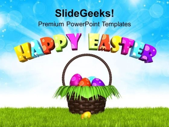 Wish You Happy Easter With Bright Theme PowerPoint Templates Ppt Backgrounds For Slides 0313