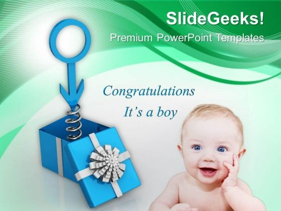 Wishes And Gifts On Male Birth PowerPoint Templates Ppt Backgrounds For Slides 0813