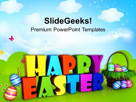 Wishing Happy Easter Wishes Powerpoint Templates Ppt Backgrounds For