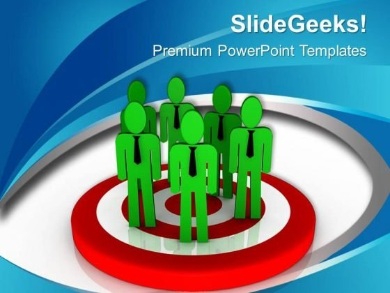 With Team Efforts Achieve Targets PowerPoint Templates Ppt Backgrounds For Slides 0713