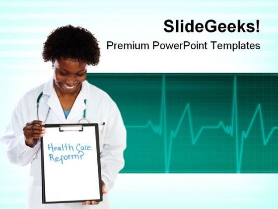 Woman Doctor Health PowerPoint Themes And PowerPoint Slides 0911
