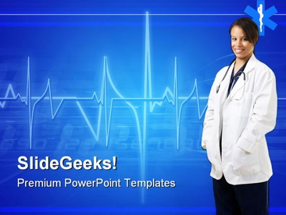 Woman Doctor Hospitality PowerPoint Templates And PowerPoint Backgrounds 0911