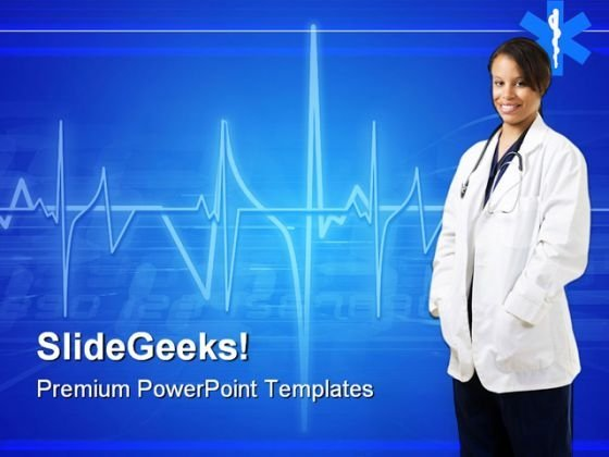 Woman Doctor Hospitality PowerPoint Themes And PowerPoint Slides 0911