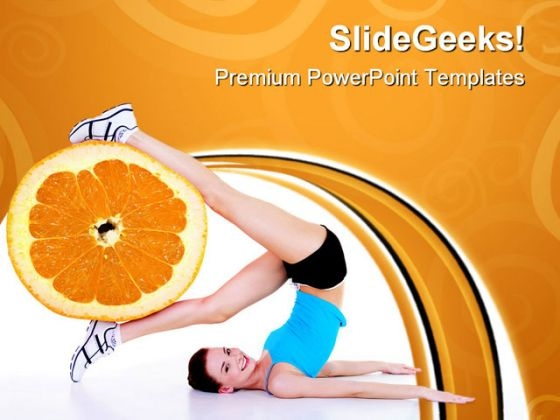 Woman Exercises Health PowerPoint Templates And PowerPoint Backgrounds 0711