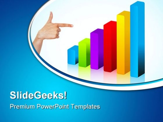 Woman Hand Pointing To Chart Business PowerPoint Templates And PowerPoint Backgrounds 0511