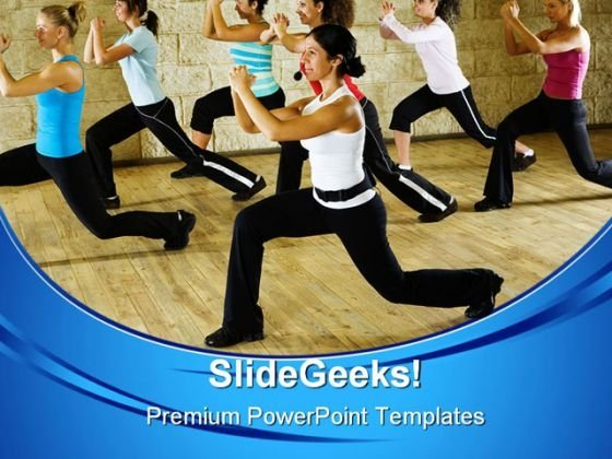 Women At Fitness Club Health PowerPoint Templates And PowerPoint Backgrounds 0611