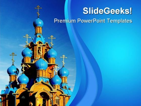 Wooden Church Religion PowerPoint Themes And PowerPoint Slides 0611
