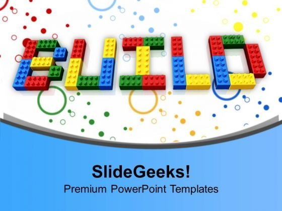 Word Build Written Using Lego Blocks PowerPoint Templates Ppt Backgrounds For Slides 1212