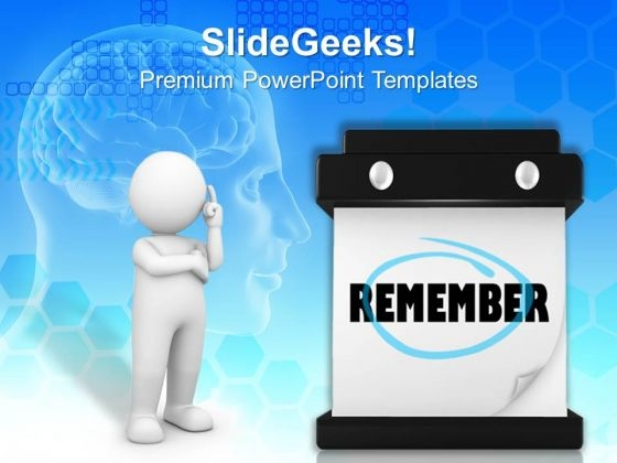 Word Remember Metaphor PowerPoint Templates And PowerPoint Themes 0912