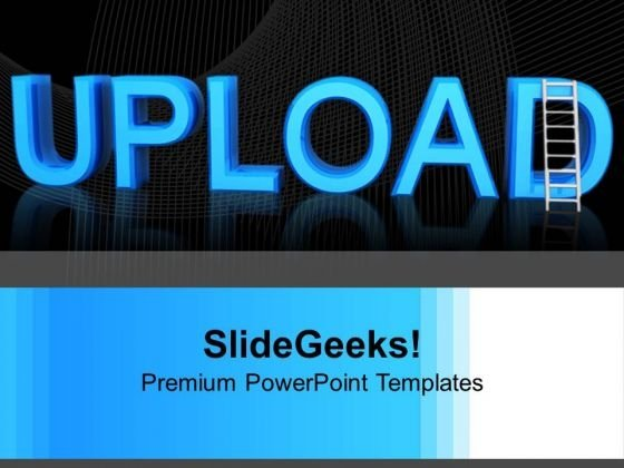 Word Upload With Ladder Business PowerPoint Templates Ppt Backgrounds For Slides 1112