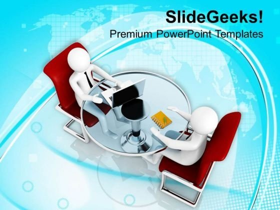 Work On Laptop With Ease PowerPoint Templates Ppt Backgrounds For Slides 0813