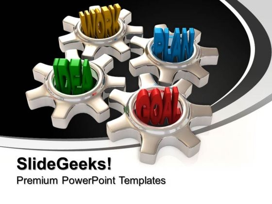 Work Plan And Goal Gearwheels PowerPoint Templates And PowerPoint Themes 0912
