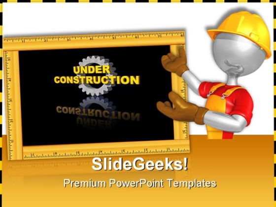 Worker01 Construction PowerPoint Themes And PowerPoint Slides 0711