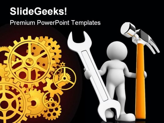 Worker Industrial PowerPoint Themes And PowerPoint Slides 0511
