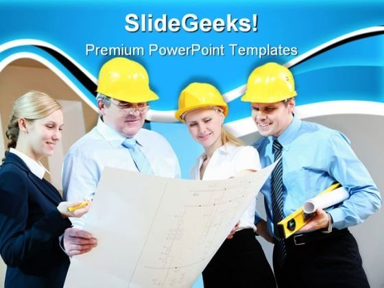Workers Group Construction PowerPoint Themes And PowerPoint Slides 0711
