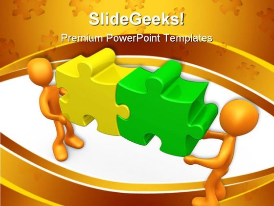 Working Together Communication PowerPoint Themes And PowerPoint Slides 0411