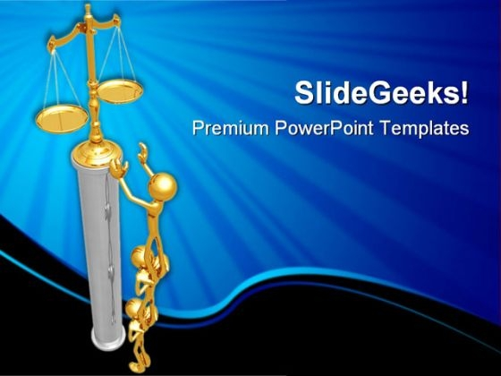 Working Together For Justice Business PowerPoint Themes And PowerPoint Slides 0511