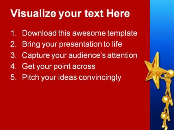 working_together_for_star_metaphor_powerpoint_background_and_template_1210_text