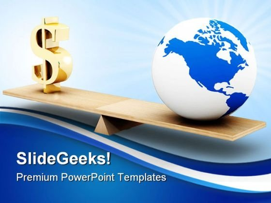 World Business Globe PowerPoint Background And Template 1210