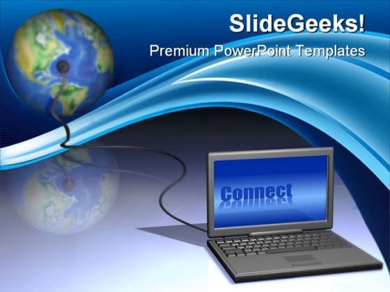 World Connecting Computer PowerPoint Themes And PowerPoint Slides 0211