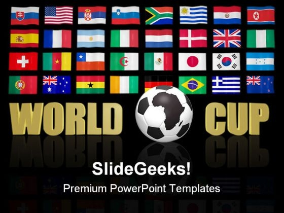 World Cup South Africa Flag Sports PowerPoint Templates And PowerPoint Backgrounds 0811