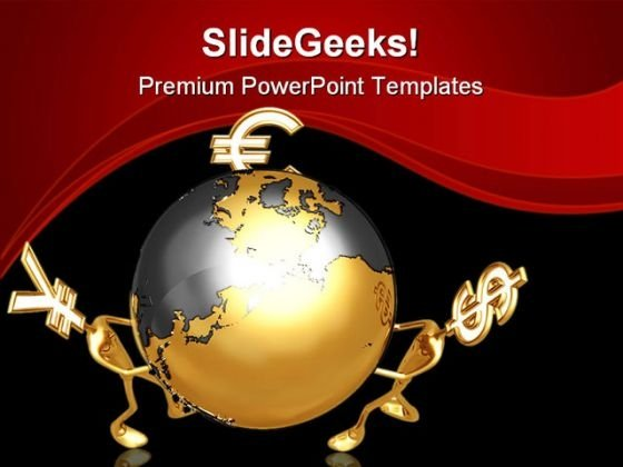 World Currency Globe PowerPoint Themes And PowerPoint Slides 0511