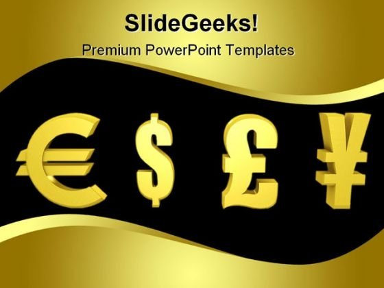 World Currency Money PowerPoint Template 0810