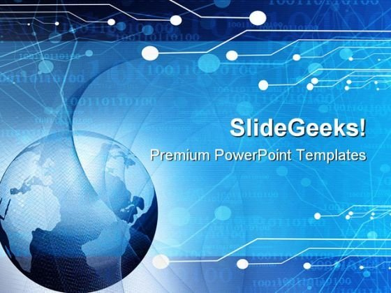 World Globe Abstract PowerPoint Themes And PowerPoint Slides 0611