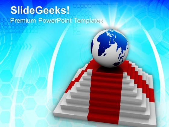 World Globe On Top Success PowerPoint Templates And PowerPoint Themes 0912