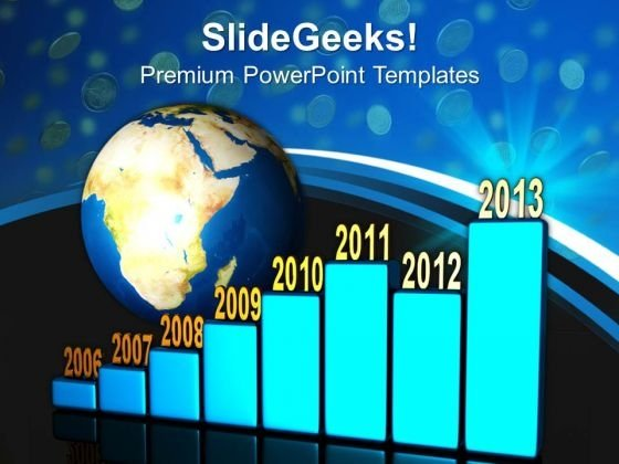 World Globe Time Concept Business PowerPoint Templates And PowerPoint Themes 0812
