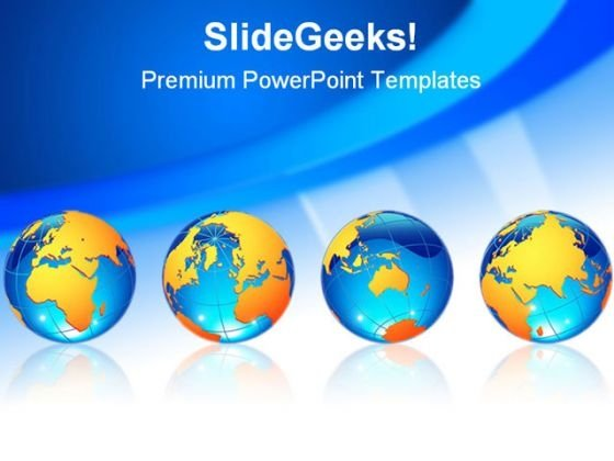World Globes Business Template 1010